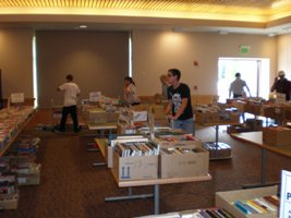 Setting up the booksale