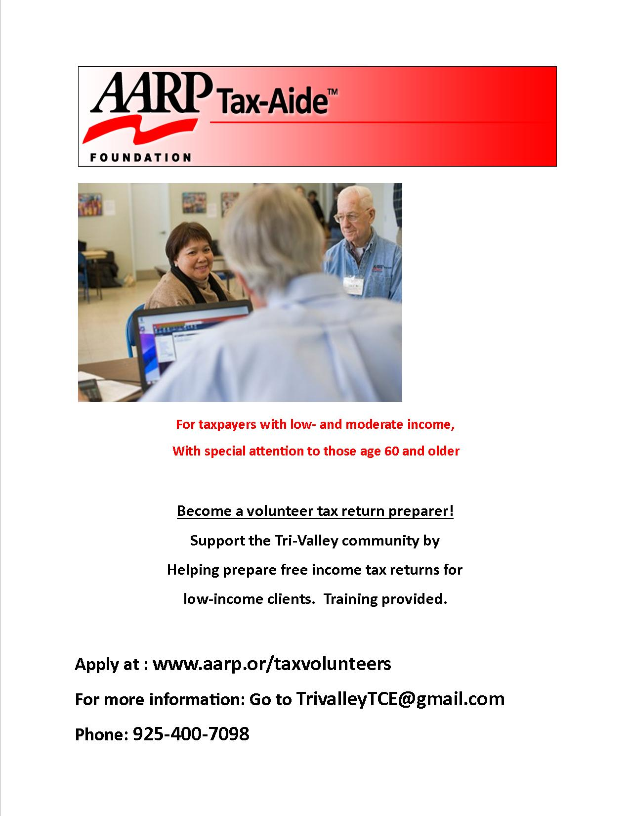 Aarp tax help locator