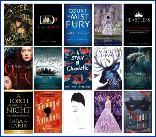 Upcoming YA novels 2016