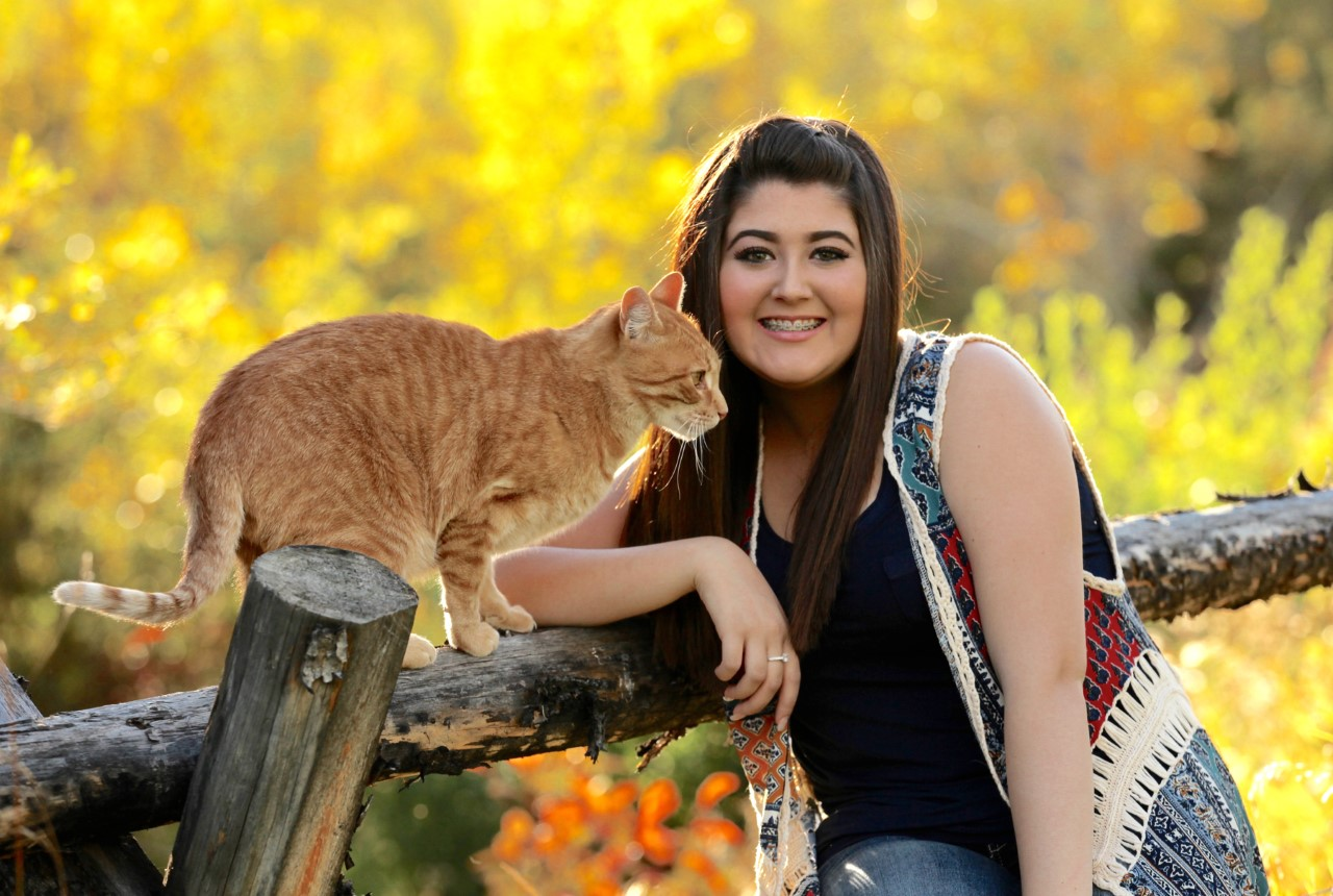 Natalie with Cat